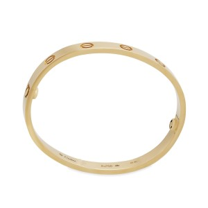 Cartier 18K Yellow Gold Love Bracelet Size: 21cm