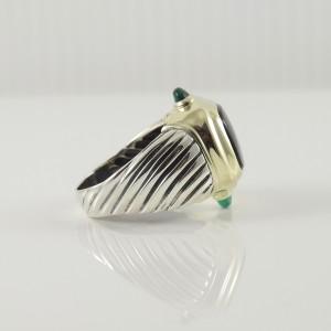 e1fb846962624 David Yurman Renaissance Sterling Silver Black Onyx; Green Onyx Ring