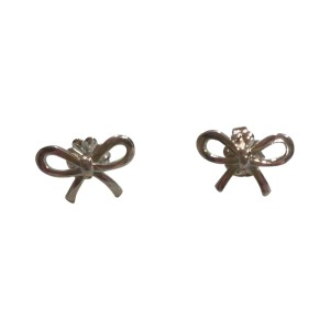 Tiffany & Co. Sterling Silver Bow Earrings