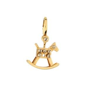 Cartier Rocking Horse Charm Pendant Necklace 18K Yellow Gold
