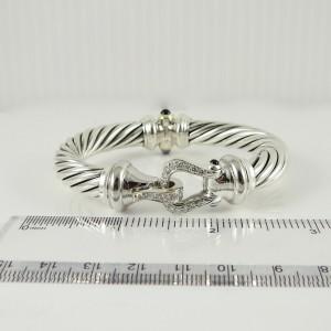 David Yurman Thoroughbred  Sterling Silver .46tcw Diamond Bracelet