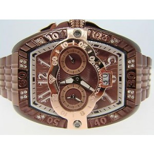 Aqua Master Joe Rodeo Swis Auto Brown Diamond Watch