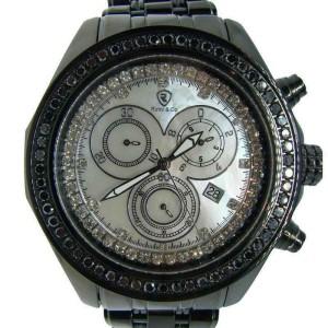 Robb & Co Joe Rodeo Black 1 Row 2.52 Ct Diamond Watch