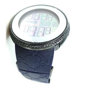 Gucci Digital Diamond 6 Ct Black Diamond Blue Mens Watch