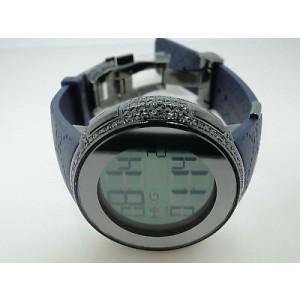 Gucci Digital Diamond Black Diamond Blue Mens Watch