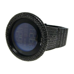 Gucci Digital  32 Ct Black Diamond Watch