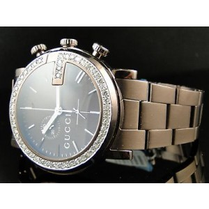 Gucci Ya101341 Brown Chrono 3.5 Ct Diamond Mens Watch