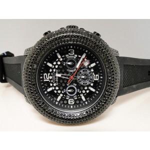 G-Master/Joe Rodeo Black Simulated 15 Ct Diamond Watch Mens 52mm