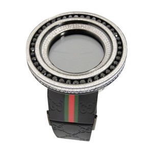 Gucci Digital Black And White Diamond  52Mm Bezel Mens Watch