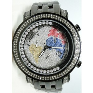 Joe Rodeo/Jojo Black Tyler Jtm7 Diamond Watch 1.90 Ct Mens Watch
