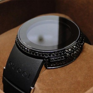 Gucci Digital Black Diamond  Ya114401 I Ladies Watch