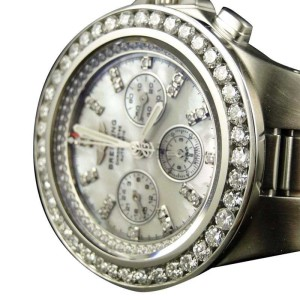 Breitling Hercules Diamond Stainless Steel Band 7.75 Ct Brand New Mens Watch