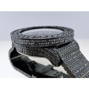 Breitling Super Avenger Black 57mm 50 Ct Diamond Mens Watch