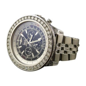Breitling Bentley Motors 6.75 MM 50mm Genuine Diamond 28 Ct Watch