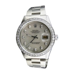 Rolex Datejust White Dial Genuine Diamond 36mm Watch