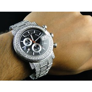 Gucci Ya101324 Fully Iced Out Mens 16.5 C Diamond Watch