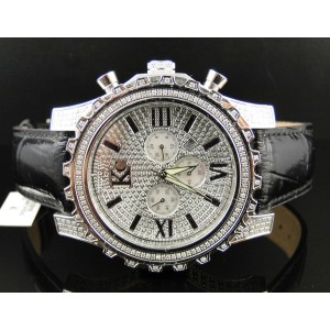 Techno Com KC WKK Stainless Steel Diamond Mens Watch