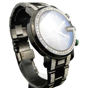 19415189af8 Gucci Ya101331 Diamond 6.5 Ct Sides And Band Mens Watch
