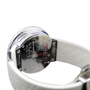 Gucci YA114403 White Rubber 9ct. Diamond 45 mm Womens Watch