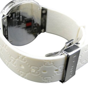 Gucci YA114214 Digital White Full 4 Ct Diamond Mens Watch