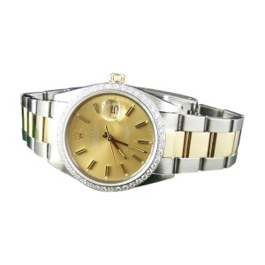 Rolex Datejust Oyster 2 Tone Diamond 18k/Steel Band 1.5 Ct  Watch