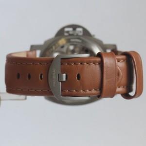Panerai Pam 116 Titanium Luminor Marina Tobacco Dial 44mm Mens Watch