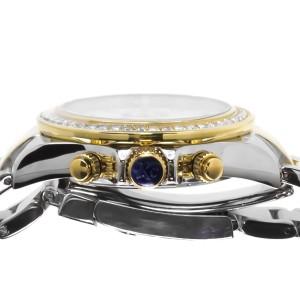 Techno Com KC Daytona Two Tone Stainless Steel Diamond Watch 41mm
