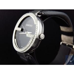Gucci YA133205 Interlocking GG Diamond 2.0ct XL Black 42 mm Mens Watch