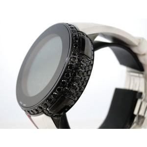 Gucci Mens White Full I Digital Ya114214 Black Diamond Watch