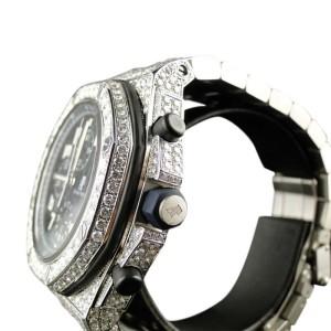 Audemars Piguet Iced Out Royal Oak Offshore Diamond 26 Ct Mens Watch