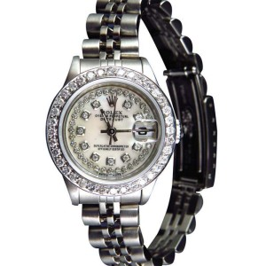 Rolex Datejust Jubilee Band White Mother Pearl 29 MM Diamond Watch