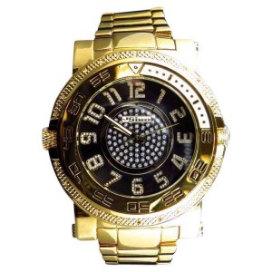 Jojo/Jojino Mens XL Big Face Stainless Steel 52 MM 0.25 Ct Diamond MJ-1226 Watch