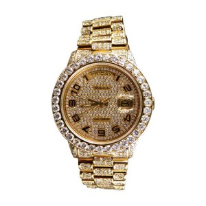 Rolex Presidential Day-Date 19 Ct Diamond Bezel 18k Yellow Gold Mens Watch