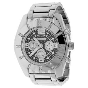 Jojo/Jojino  MJ-1217 XL Big Face Stainless Steel 50 MM 0.25 Ct Diamond Mens Watch