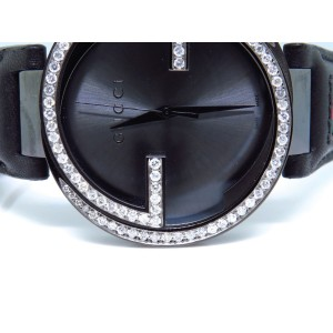 Gucci Black PVD 42 MM XL Interlocking GG Diamond 2.0ct YA133206 Watch