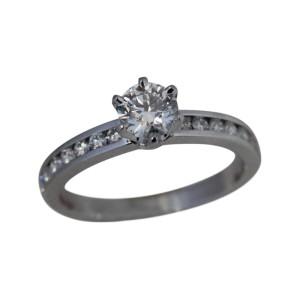 Tiffany & Co. Platinum Diamonds Ring
