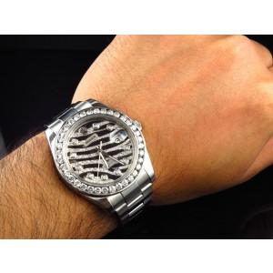 Rolex Mens 41mm 116300 Date Just II 2 Genuine Diamond 6 Ct Watch