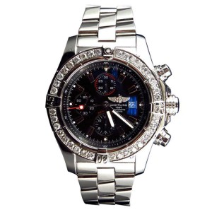 Breitling A13370 Super Avenger XL 48MM Stainless Steel Diamond Watch
