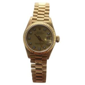Rolex Datejust 69178 18K Yellow Gold Champagne Diamond Dial Watch