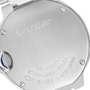 Cartier Ballon Blue W69010Z4 29mm Womens Watch