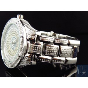 KC Techno Com Colored Stones Dial Stainless Steel 5.0ct. Diamond Dress Watch