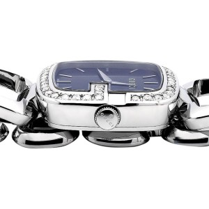 Gucci YA125405 Blue Dial 2CT Swiss Made Genuine Diamond Stainless Steel Women Watch