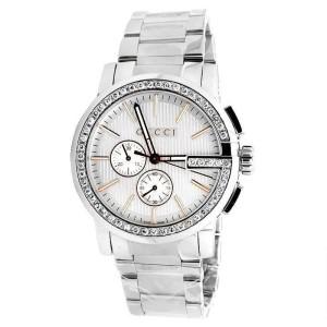 Gucci 101 G-Chrono Rose Gold Dial Diamond Mens 44mm YA101201 3.0Ct Watch