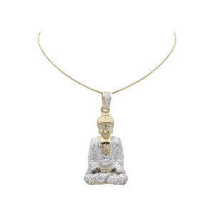 10K Yellow Gold Diamond Charm Pendant