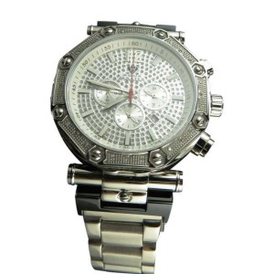 Aqua Master Illusion Dial Stainless Steel 45mm Diamond Watch