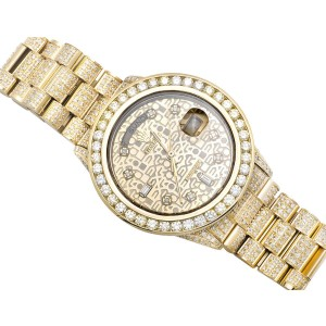 Rolex Day-Date Presidential 18038 18K Yellow Gold 17 ct Diamond Watch