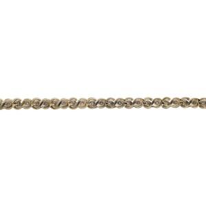 10K Yellow Gold Wide S-Link Miracle Set Round-Cut Diamond Bracelet