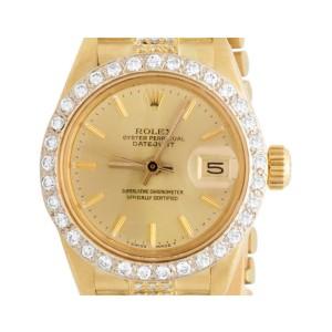 Rolex Datejust 18K Yellow Gold Presidential Diamond 26mm Watch