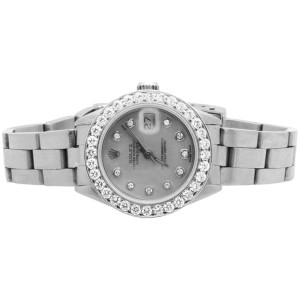 Rolex Datejust Stainless Steel Oyster Bracelet Diamond 2.5 ct. Womens Watch 26mm