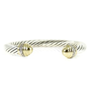 David Yurman Cable Classics  Sterling Silver .48tcw Diamond Bracelet